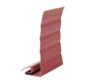 Ветровая J фаска Элит планка для сайдинга, красная