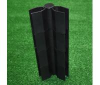 Угол поворотный от 60°  до 180°  пластик для доски 300х25-30 из ДПК Чёрный