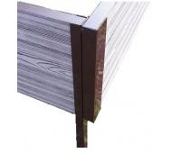 Уголок металлический 90°, для доски 300х30 из ДПК Коричневый