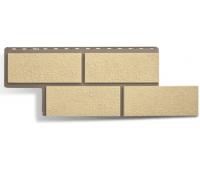 Фасадные панели (цокольный сайдинг) КОЛЛЕКЦИЯ «Неаполитанский камень» Слоновая Кость