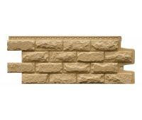 Фасадные панели Камень колотый Песочный